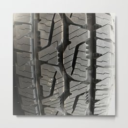 Car Automobile road trip on a brand new tires Metal Print