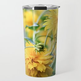 Thickets of yellow flowers. Travel Mug