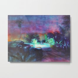 Neontubes & wilderness in Saigon river Metal Print