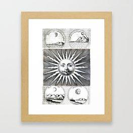 Sun vs Moon Framed Art Print