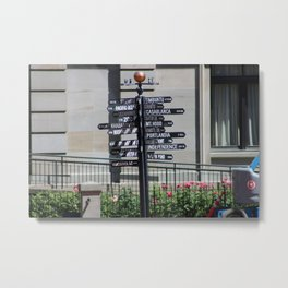 What direction is ... ? Metal Print