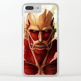 Colossal titan artwork Clear iPhone Case