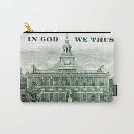cash money old Ben 100 bucks dollars  us currency  in God we Trust Carry-All Pouch