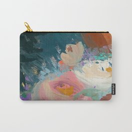 Sweet Nothings: a colorful floral abstract in pinks, reds, blues, and white Carry-All Pouch