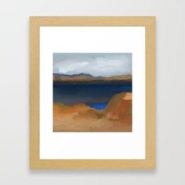 Lake with a Lagoon Framed Art Print