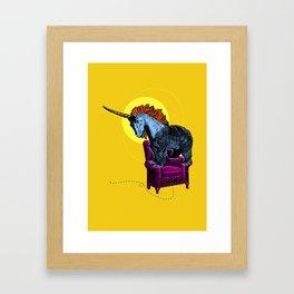 Get off the furniture, Unibear Framed Art Print
