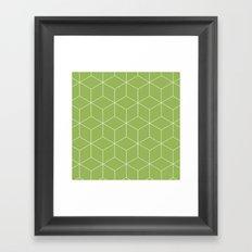 Cubes Greenery Framed Art Print
