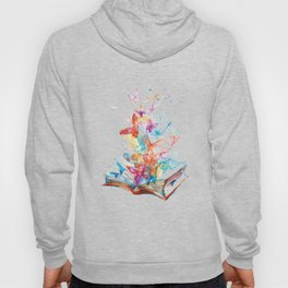 RAINBOW BUTTERFLIES FLYING OUT OF BOOK Hoody