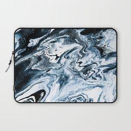 M A R B L E - dark blue & white Laptop Sleeve