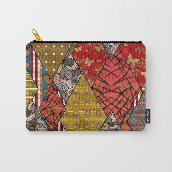 Rustic . Patchwork . Carry-All Pouch