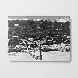 Breckenridge: Horseshoe Bowl Metal Print