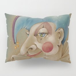 PUNCHINELLO JESTER COLORED PENCIL DRAWING Pillow Sham