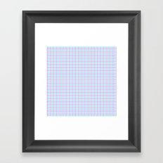 Gingham purple and teal Framed Art Print