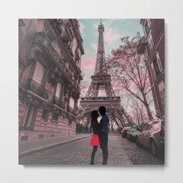 Spring Paris Love Metal Print
