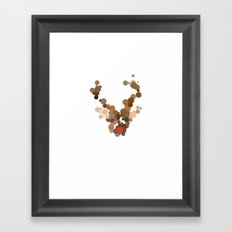 Dotted Rudolph face Framed Art Print