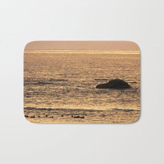 Golden Hour on the Sea Bath Mat