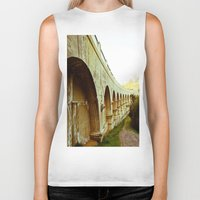 hollywood Biker Tanks featuring Hollywood Reservoir by Kim Ramage