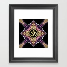 Golden Berry Om Sunshine Framed Art Print