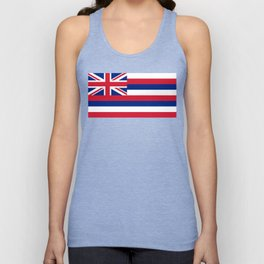 Hawaiian Flag, Official color & scale Unisex Tank Top