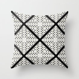 Skunks and Swans Throw Pillow