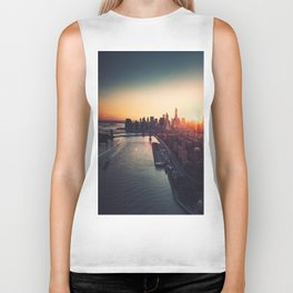 new york city skyline Biker Tank