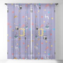 Friends doodling Sheer Curtain