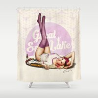 utah Shower Curtains featuring Miss Utah by keith p. rein