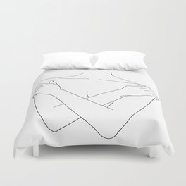 Crossed arms illustration - Joyce Duvet Cover