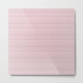 Ash pink ornament Metal Print