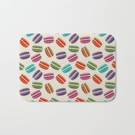 Colorful macarons pattern Bath Mat