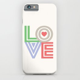 Valentine Love note iPhone Case