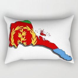 Eritrea Map with Eritrean Flag Rectangular Pillow