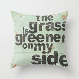 Greener Throw Pillow