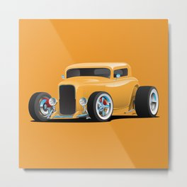Classic American 32 Hotrod Car Illustration Metal Print