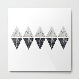marble shape duplicates Metal Print