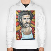 nicolas cage Hoodies featuring Raising Arizona Nicolas Cage by Portraits on the Periphery