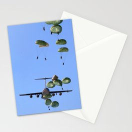 parachute parachutist Stationery Cards