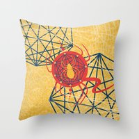 spider Throw Pillows featuring SPIDER by Armin Barducci