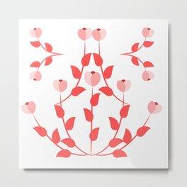 Pink floral fantasy Metal Print