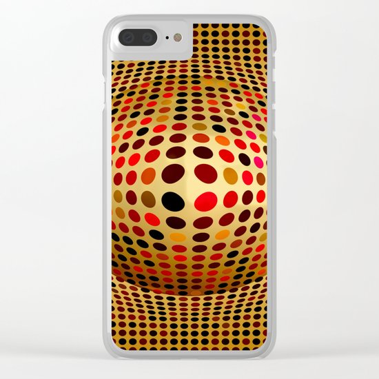 Ball illusion art Clear iPhone Case