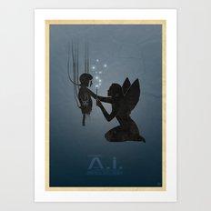 Steven Spielberg's A.I. Art Print