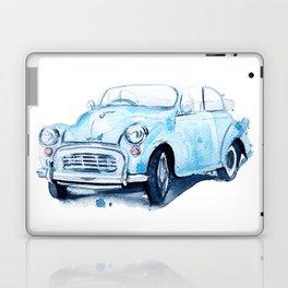 retro car blue Laptop & iPad Skin