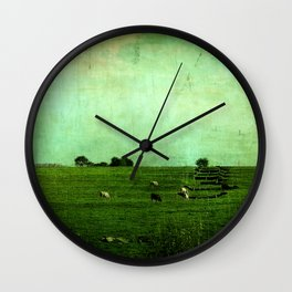 The Green Yonder Wall Clock