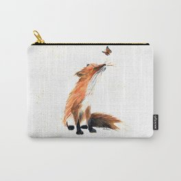 Monarch Fox - animal watercolor painting Carry-All Pouch