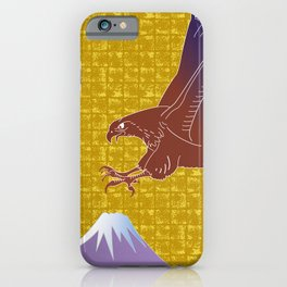 Eagle and Mt.Fuji on Gold-leaf Screen iPhone Case