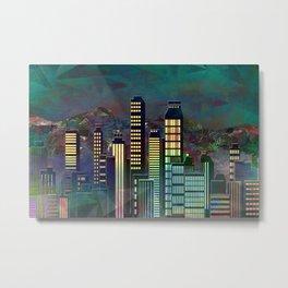 Geometric City - landscape format Metal Print