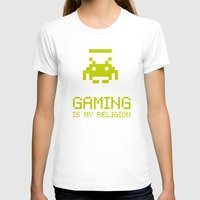 religion T-shirts featuring Gaming is my religion by Lily's Factory