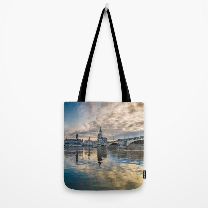 Sunset on Elbe Tote Bag