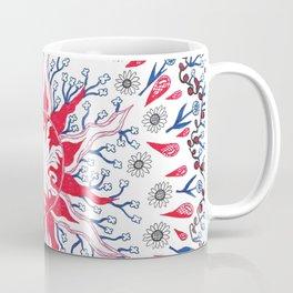 Flaming Sun Abstract Coffee Mug