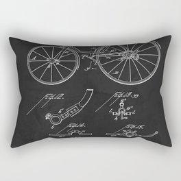 Bicycle 1889 Patent Cycling Rectangular Pillow